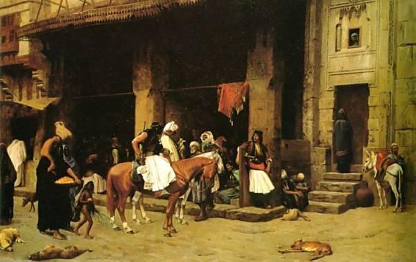 A Street Scene in Cairo